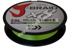 Шнур Daiwa J-Braid X8 0.10mm 300m шартрез