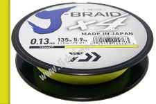 DAIWA Шнур J-Braid x4 0,13mm 5,9kg 135m yellow